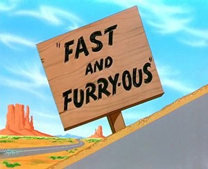 Fast and Furry-ous - Title card of Fast and Furry-ous.