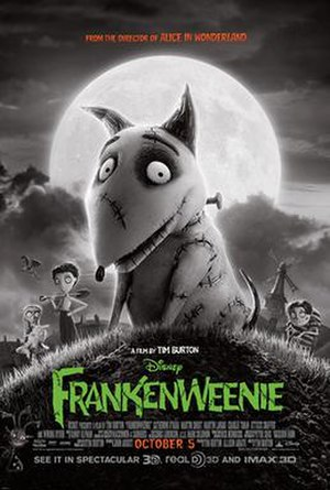 Frankenweenie (2012 film) - Theatrical release poster