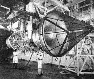 General Electric GE4 - The General Electric GE4/J5 afterburning turbojet
