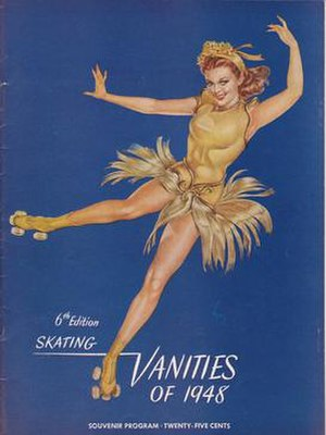 Gloria Nord - Gloria Nord shown on program cover for the 1948 Skating Vanities