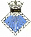 Official badge of HMS Olympus