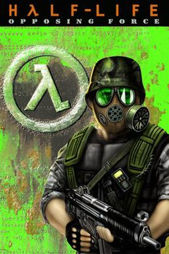 Half-Life: Opposing Force - The cover art for Opposing Force, depicting the game's protagonist, Adrian Shephard