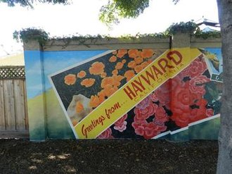 Hayward, California - Hayward Public Art Program mural detail (Jean Bidwell, artist)