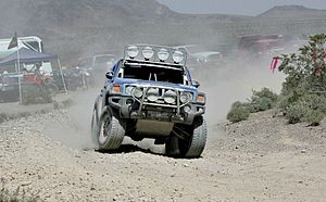 Team HUMMER stock-class H3 driven by Rod Hall....