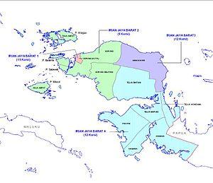 West Papua (province) - Map of West Papua