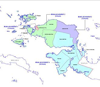 West Papua (province) - Map of West Papua