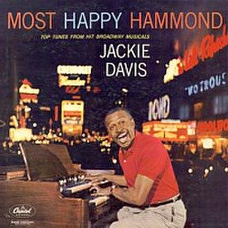 Jackie Davis - Davis on the cover of his 1958 album Most Happy Hammond