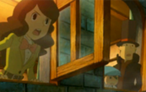 Professor Layton and the Last Specter - A still from one of the animated cutscenes within Professor Layton and the Last Specter.