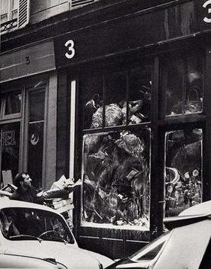 Iris Clert Gallery - Exterior of Galerie Iris Clert during Le Plein exhibition