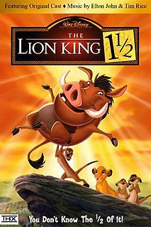 <i>The Lion King 1½</i> 2004 animated film, third and final installment in the Lion King trilogy directed by Bradley Raymond