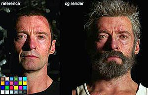 Logan (film) - Hugh Jackman as Logan, with makeup and visual special effects