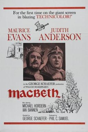 Macbeth (1960 American film) - Image: Macbeth Film Poster