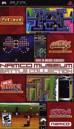 United States and Canadian box for Namco Museum Battle Collection