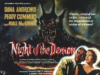Night of the Demon - Original UK quad poster