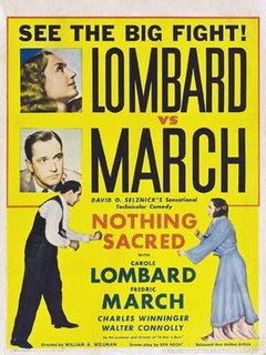 <i>Nothing Sacred</i> (film) 1937 film by William A. Wellman