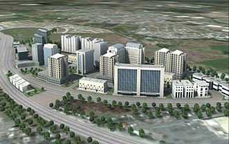 Biñan - An aerial perspective of the master plan for the One Asia Business Center.