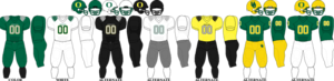 2009 Oregon Ducks football team - Image: Pac 10 Uniform UO 2009