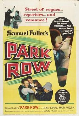 Park Row (film) - Image: Park Row Film Poster