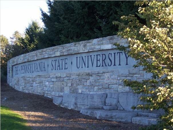 Pennsylvania State University monument outside Beaver Stadium