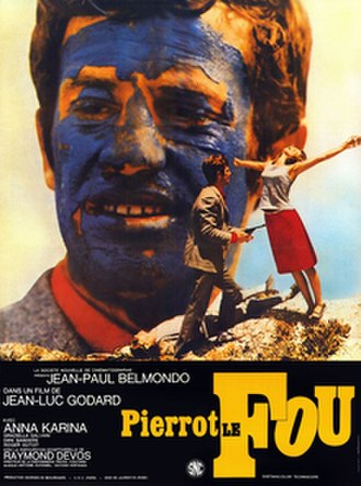 Pierrot le Fou - 2009 theatrical re-release poster.