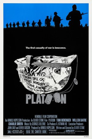 Platoon (film) - Theatrical release poster by Bill Gold