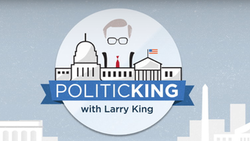 Politicking with Larry King logo.png