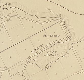 Battle of Port Gamble - Port Gamble is located on Puget Sound at the entrance to Port Gamble Bay.