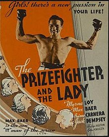 Poster of The Prizefighter and the Lady.jpg