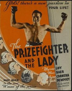 <i>The Prizefighter and the Lady</i> 1933 film by Howard Hawks, W. S. Van Dyke