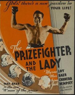 The Prizefighter and the Lady - Image: Poster of The Prizefighter and the Lady
