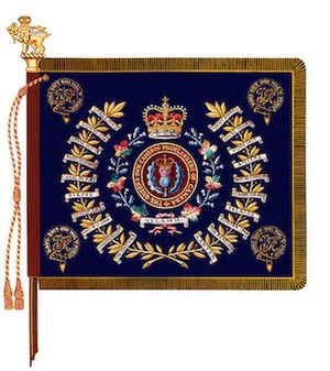 The Queen's Own Cameron Highlanders of Canada - The regimental colour of The Queen's Own Cameron Highlanders of Canada.