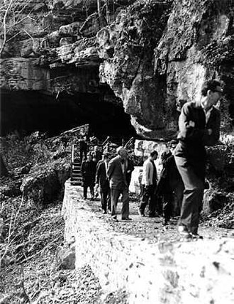 Russell Cave National Monument - Brazilian foresters touring Russell Cave in 1965