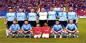 Shelbourne F.C. - Shelbourne team before their game with FC Steaua București in the 2005–06 UEFA Champions League qualifying rounds.