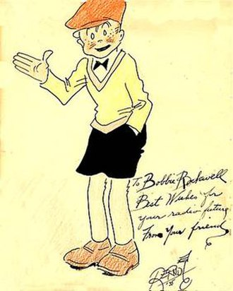Smitty (comic strip) - 1935 hand-colored original of Smitty by Walter Berndt