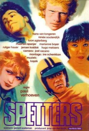 Spetters - Dutch film poster for Spetters