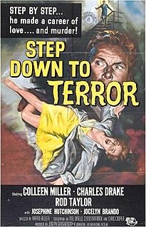 <i>Step Down to Terror</i> 1958 film by Harry Keller