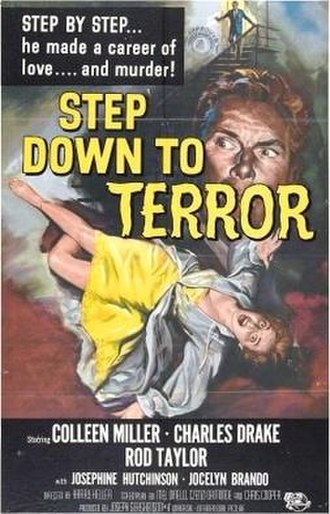 Step Down to Terror - Film poster by Reynold Brown