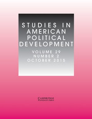 Studies in American Political Development - Image: Studies in American Political Development, October 2015