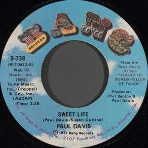Sweet Life (Paul Davis song) - Image: Sweet Life Paul Davis
