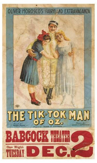 The Tik-Tok Man of Oz - Poster depicting Private Files, Betsy Bobbin, and Polychrome