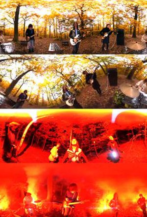 """Expectation (song) - Frames from the music video for """"Expectation"""", displaying the use of the 360 degree camera"""
