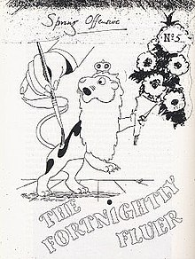 Cover of The Fortnightly Fluer magazine for Second World War camoufleurs.