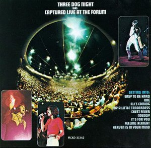 Captured Live at the Forum - Image: Three Dog Night Captured Live at the Forum