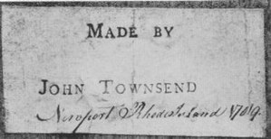 Goddard and Townsend - John Townsend label from an 18th-century clock