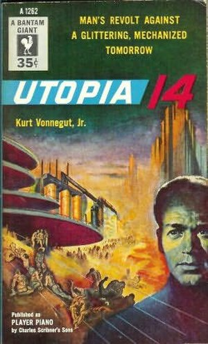 Player Piano (novel) - Cover of Utopia 14, as the novel was titled for a 1954 release.