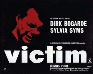 Victim (1961 film) - Original 1961 British quad format cinema poster