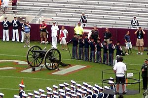 Lane Stadium - Skipper in the south end zone during pregame
