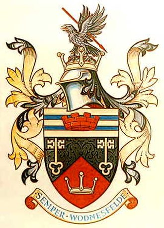 Wednesfield - The coat of arms of the former Wednesfield Urban District Council.