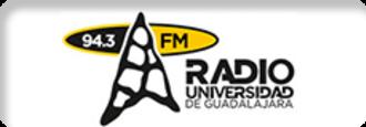 XHUDG-FM - Image: XHUDG Radio Universidad 104.3 logo