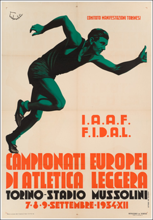1934 European Athletics Championships - Image: 1934 European Athletics Championships logo